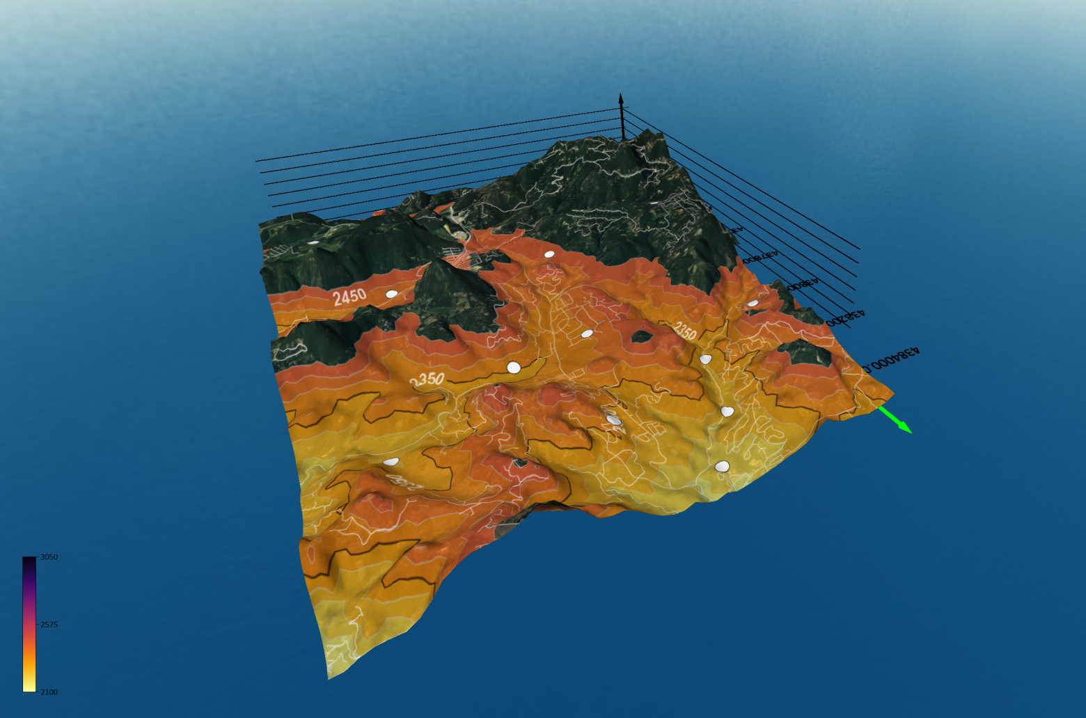 Site suitability model in Surfer's 3D View